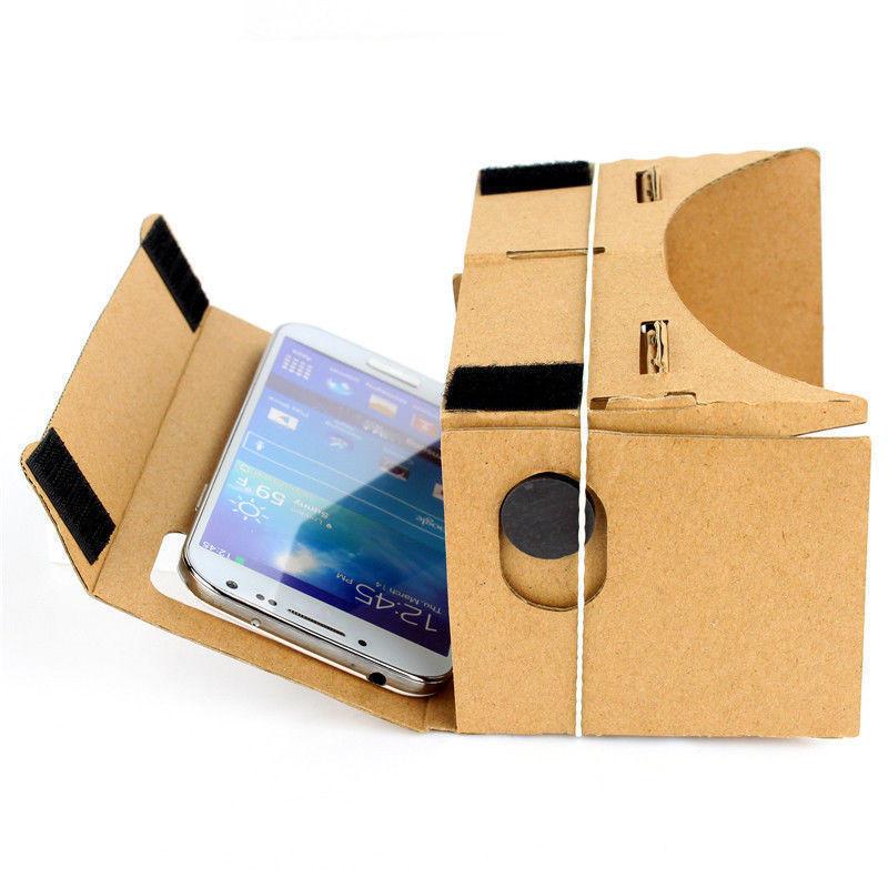 VR очки из картона Google Cardboard (виртуальные очки,VR очки для смартфона)