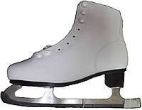 Классические белые фигурные коньки для льда