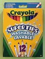 Crayola 12 Моющийся Маркеры ассорти цветов, Смой водой ручки цвет краскы