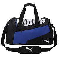 Спортивная сумка Puma черная с белым логотипом