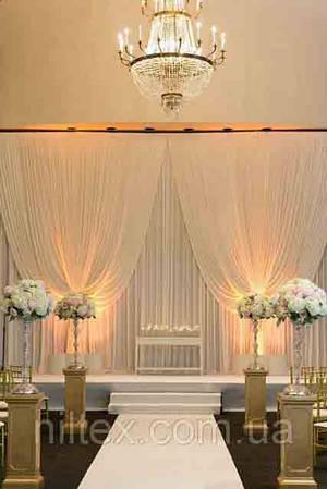 Оформление свадебных залов тканью