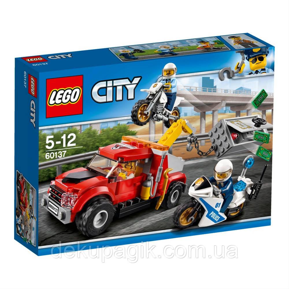 Lego City Побег на буксировщике 60137