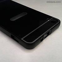 Алюминиевый чехол-бампер для Lenovo S850 (чёрный с вырезом)