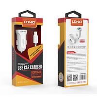 LDNIO DL-C17 автомобильное зарядное устройство с одним USB входам 5V/1A и Micro USB кабелем