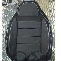 Чехлы модельные Pilot ВАЗ 2107 ткань черная - темно- серая