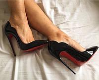 """Лаковые туфли с """"волной"""" Christian Louboutin.Кожа."""
