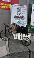 Подставка для цветов Велосипед бол 1 Кантри.