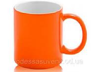 Чашка для сублимации ХАМЕЛЕОН  Глянцевая  (оранжевая)