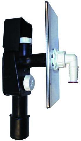 Сифон Hutterer & Lechner для стиральной и посудомоечной машины DN40/50 110х225мм с подсоединением для вантуза HL404