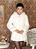 Жіноча хутряна шуба з капюшоном, жіночий хутряний кожушок, штучне хутро., фото 4
