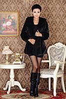 Жіноча хутряна шуба з капюшоном, жіночий хутряний кожушок, штучне хутро., фото 5
