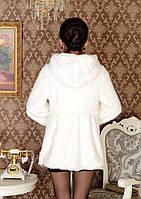 Жіноча хутряна шуба з капюшоном, жіночий хутряний кожушок, штучне хутро., фото 6