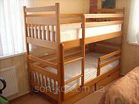 Ліжко двоярусне дерев'янне Артур