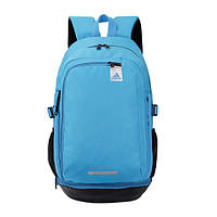 Рюкзак Adidas голубой с серебристым логотипом