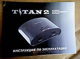 Игровая приставка двухсистемная 8 и 16 бит с памятью Titan2+400 встроенных игр, фото 5