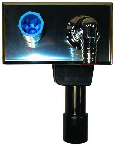 HL405 Сифон для стиральной и посудомоечной машины DN40/50 с интегрированным подключением воды 180х100мм