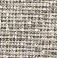 Канва Zweigart 3609/5379 Belfast Petit Point  32ct, цвет сырого льна в белый горошек