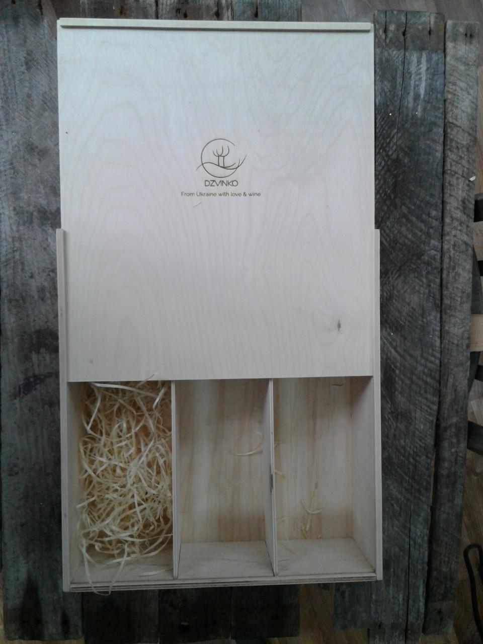 Коробка для упаковки вина ( 3 бутылки)