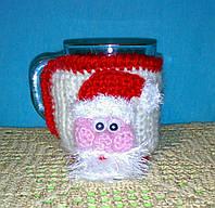 Грелка на стакан (чашку) Дед Мороз