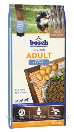 Корм для  взрослых собак Бош (Рыба+картофель) 15кг/новый, фото 2