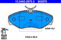Тормозные колодки передние на Рено Трафик / Опель Виваро / Ниссан Примастар - ATE (Германия) 13046028702
