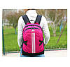 Спортивный рюкзак Adidas фиолетовый с серебристым логотипом и полосками (реплика), фото 2