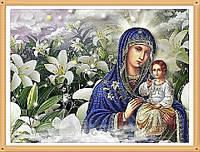 """Набор алмазной вышивки (мозаики) икона """"Богородица Неувядаемый Цвет"""""""