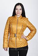 Куртка женская весенняя большого размера К 24 желтая