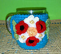 Грелка на стакан (чашку) Букет цветов