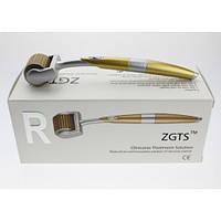 Мезороллер ZGTS, титан c позолотой и лазерной заточкой, 192 микроигл