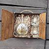 Коробка для упаковки коньяка и бокалов подарочная