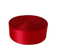Атласная лента 2,5 cм - цвет красный