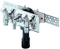 HL406.2 Сифон для стиральной и посудомоечной машины с двумя подсоединениями воды и с двух водопроводных кранов