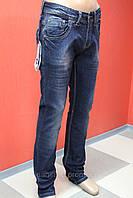 Модные джинсы для мужчин классические Omore сини-грязные,прямые потёртые 1562