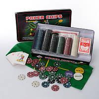 Настольная игра покер, 300 фишек с номиналом