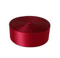 Атласная лента 2,5 cм - цвет бордовый