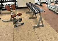 Напольное резиновое покрытие  для тренажерных залов и фитнеса, резиновая плитка 30 мм