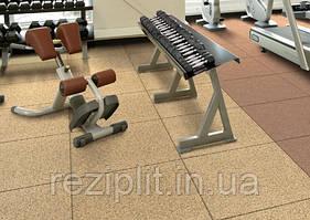 Покрытие  для тренажерных залов и кроссфита, резиновая плитка 30 мм