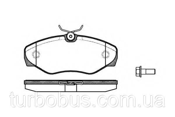 Тормозные колодки передние на Рено Трафик II - RENAULT (оригинал) 7701050914