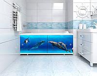 """Экран под ванну """"Ультра-Лёгкий"""" """"АРТ"""" """"Дельфины"""" 1,5 м"""