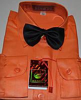 Детская оранжевая рубашка с бабочкой BENDU (размеры 25,26,27,28,29,30,31)