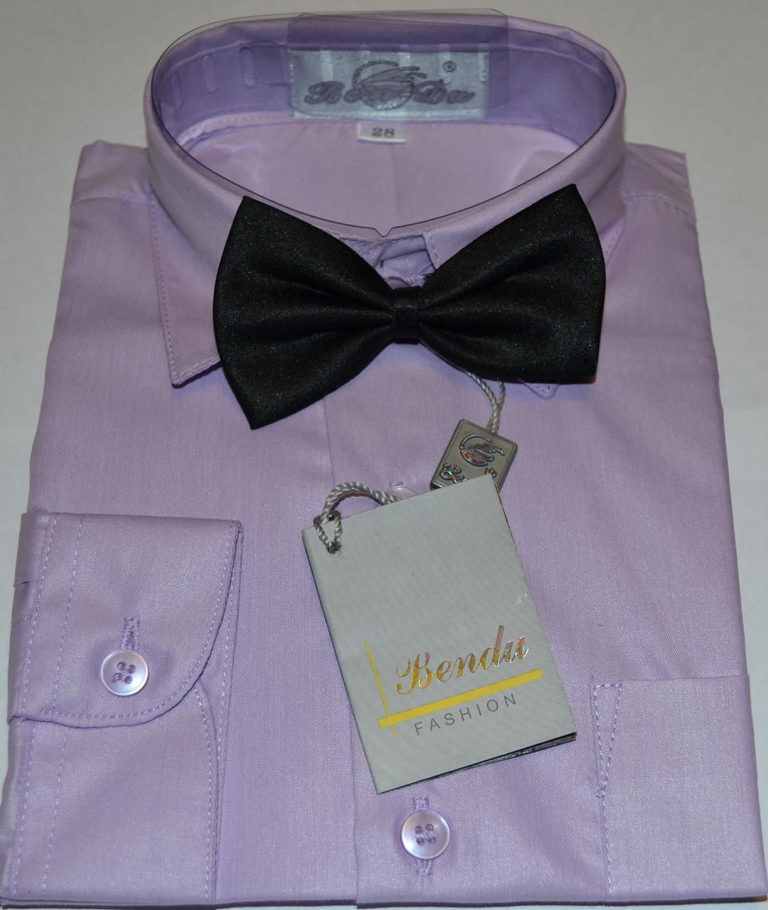 Детская светло-сиреневая рубашка с бабочкой BENDU , LAGARD  (размер 28 + под заказ)
