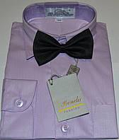 Детская светло-сиреневая рубашка с бабочкой BENDU , LAGARD  (размер 25,26,27,28,29,30,31)