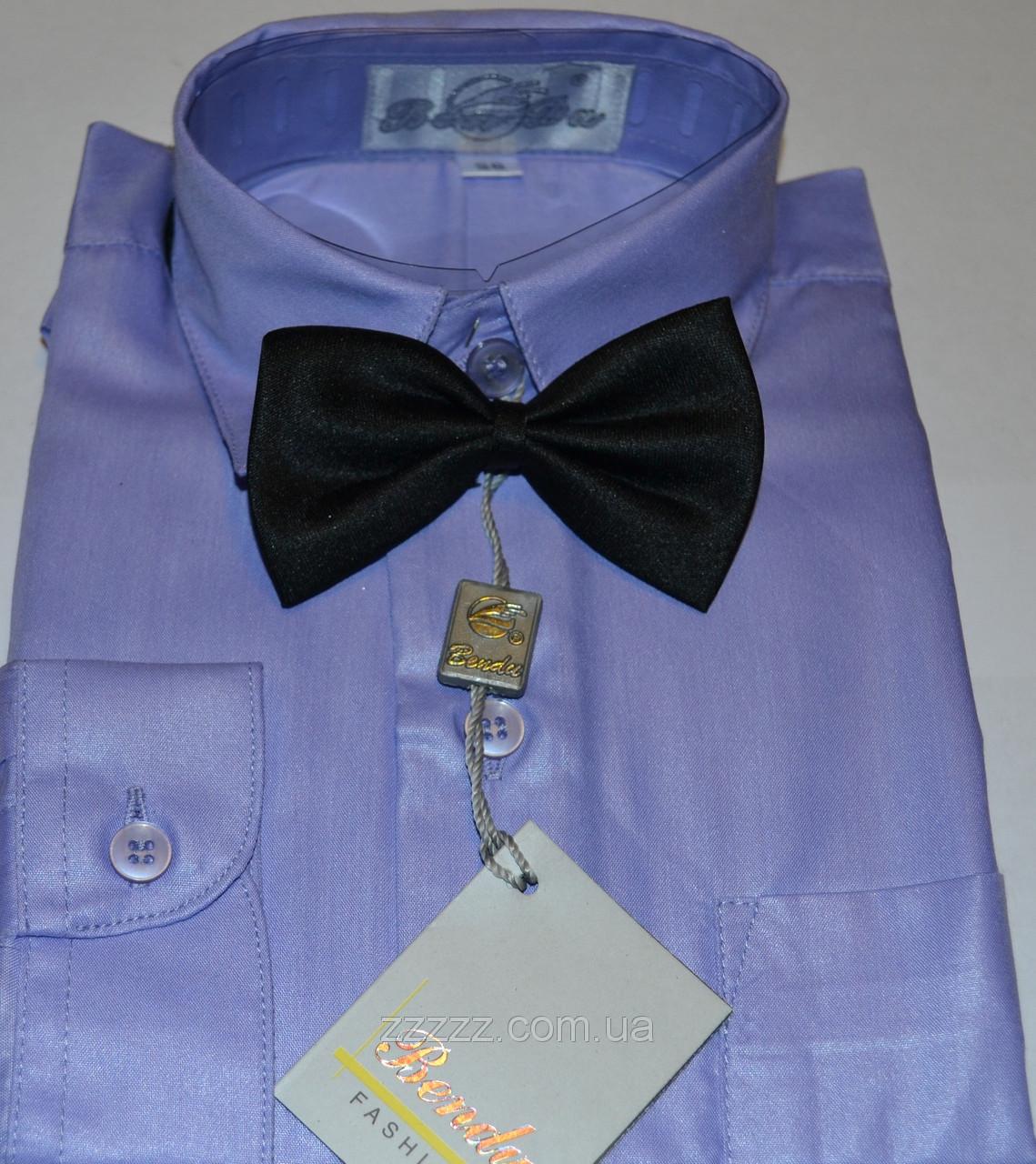 Детская светло-фиолетовая рубашка с бабочкой BENDU , LAGARD (размер 28 + под заказ)
