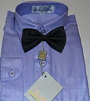 Детская светло-фиолетовая рубашка с бабочкой BENDU , LAGARD (размер 25,26,27,28,29,30,31)