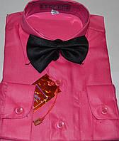 Детская малиновая рубашка с бабочкой BENDU (размер 25,26,27,28,29,30,31,32 + под заказ)