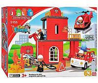 """Конструктор JDLT 5155,""""Пожарная станция"""", 63 детали, звук, свет, замечательная увлекательная игра деткам"""