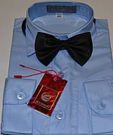 Детская голубая рубашка с бабочкой BENDU (размеры 25,26,27,28,29,30,31,,DL33)