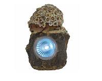 Садово-парковый светильник Feron Солар E41 Ежик 1LED бел, фото 1