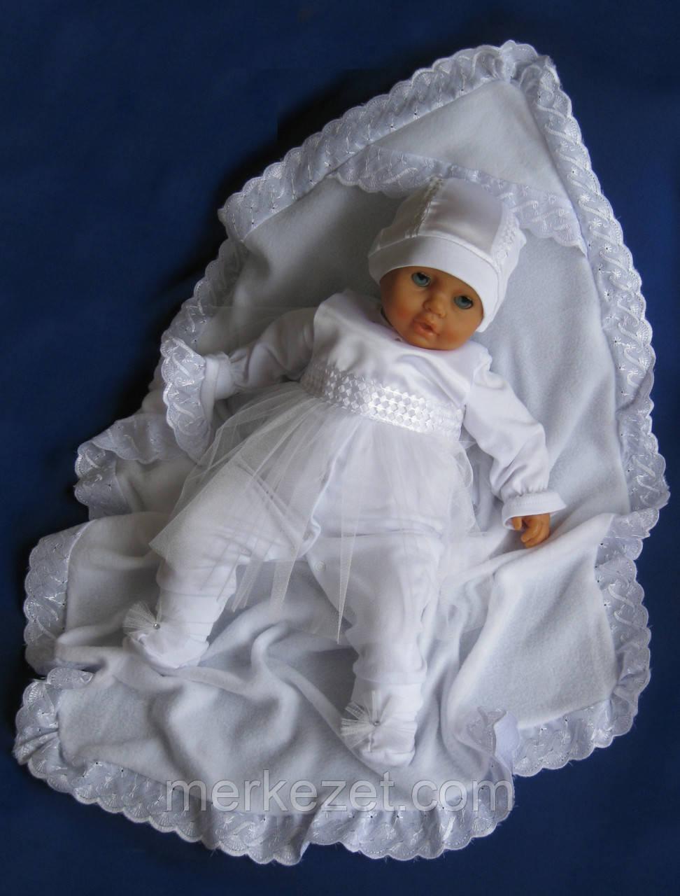 """Крещение. Крыжма """"Снежинка"""". Полотенце для крещение ребенка. Уголок"""